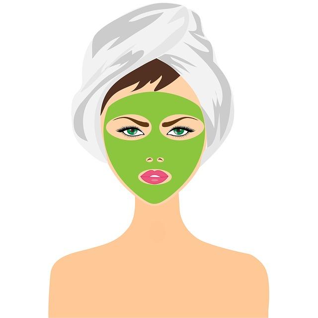 zelená obličejová maska