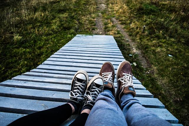 boty na nohou