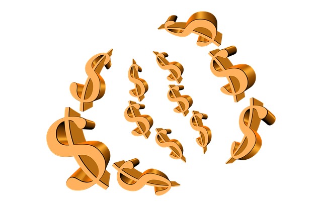 symboly dolaru, zlatá barva